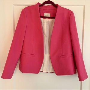 Ann Taylor Loft pink blazer pleated